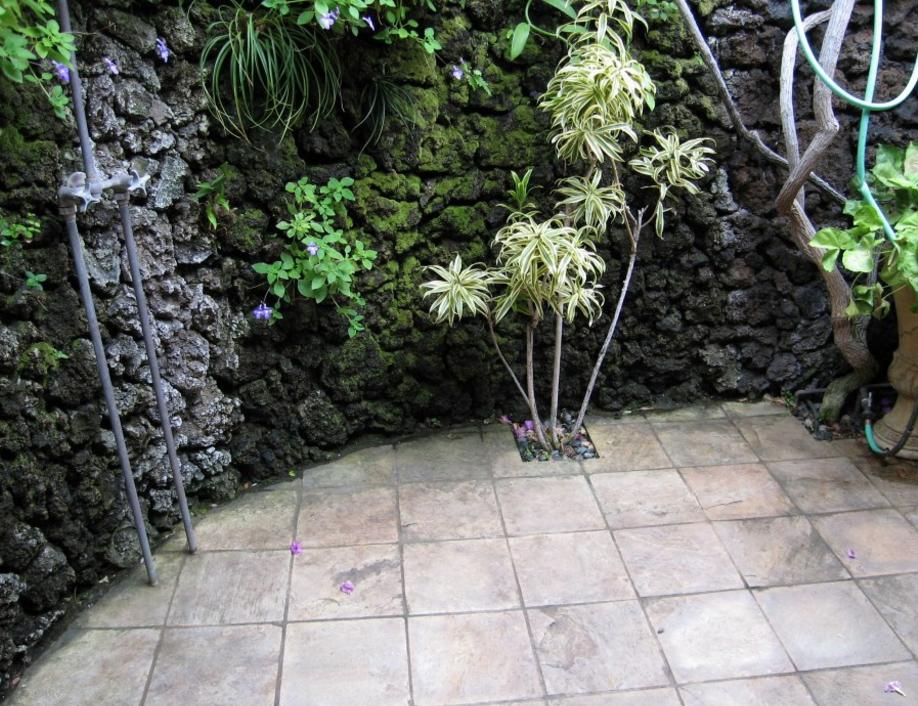 Ook natuurstenen als tuintegels zien er keurig uit.